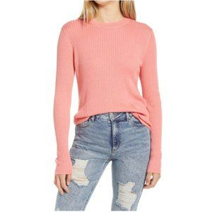 NEW BP. Nordstrom Easy Rib Knit Sweater Coral 3X